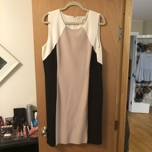 Tahari Color-block business dress